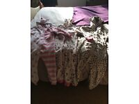 2 next onesies rabbit one age 6 lepord print age 7 and hello kitty age 6-7