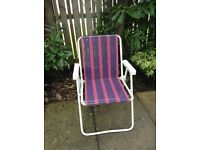 4 garden deck chairs vgc (£10 for all 4)