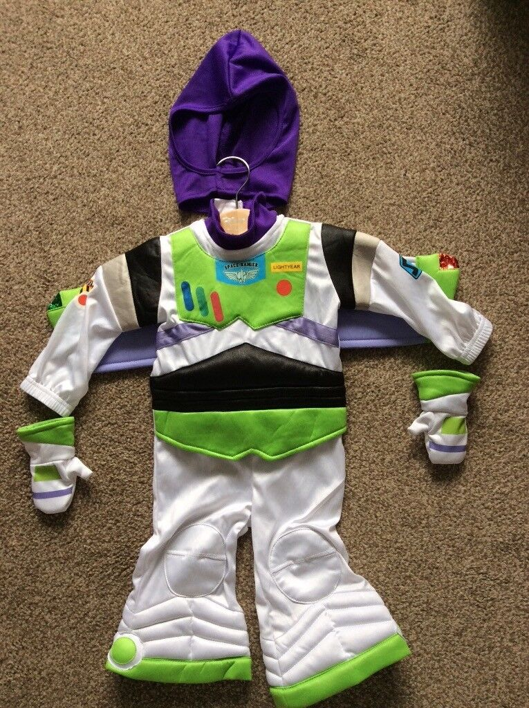 Disney Toy Story Buzz Lightyear baby dress up costume, size 6-12 months.