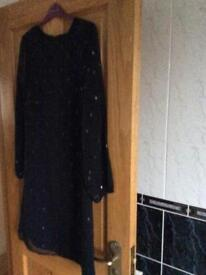 Black party dress size 14.Indigo range from Marks and Spencer's.