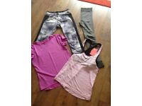 Ladies Gym/Running leggings & tops. Primark/River Island