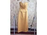 Gold bridesmaid/prom dress size 8