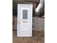 WHITE PVC-u DOUBLE GLAZED DOOR