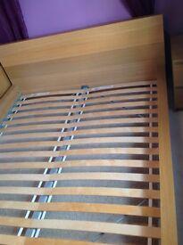 Wooden ikea malm range bed frame