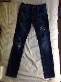 Jeans - Hardly Worn 32 waist X 34 leg inches