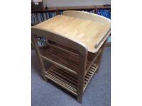 John Lewis change table - wood