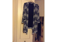 Bon Marche jacket navy and white size 20