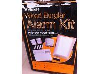 Wired burglar alarm kit for sale - never used