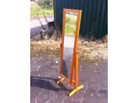 Lovely wood cheval mirror