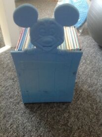 Set of 23 Disney Books in a Mickey Mouse Stand