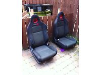 Honda civic type r bucket seats x2 complete seats (ep3,dc2,track car, drift)