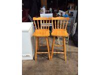 pine stools