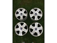 Set of original Ford 18 inch alloys.
