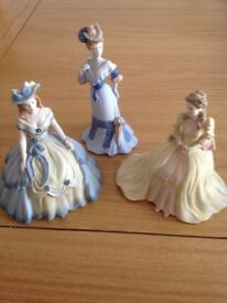 Coalport Lady Figurines x 3