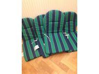 4 garden furniture seat pads