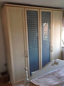 Large wardrobe with frosted glass doors
