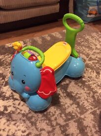 Fisher price 3 in 1 elephant - ride on