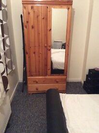 Pine wardrobe/ bedside table