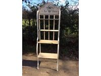 Tall shabby chic shelving unit