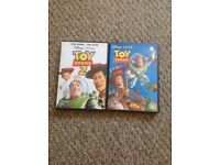 Toy story 1 & 2 DVDs for sale