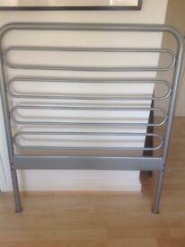 Gun metal single bed frame -FREE TO COLLECT