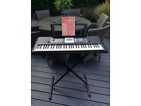 Yamaha keyboard for sale- great piece of kit too many functions to list. User manual and stand.