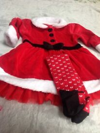 Marks and Spencer Girls 6-9 Months Christmas Dress
