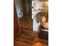 Sax stand, music sheet stand and mouth organ brace