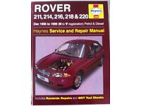 Haynes Manual For Rover 214, 216, 218 & 220. 95-99