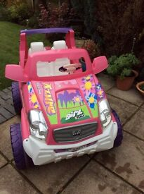 12v Feber Azure girls battery driven 2 seater JEEP