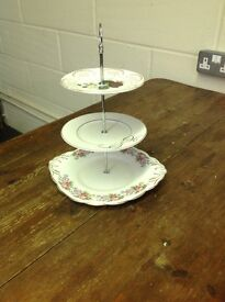 Vintage Cake Stand - very pretty 3 tier cake stand ( have 10 for sale)