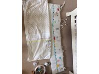 Baby mobile bumper and blanket set