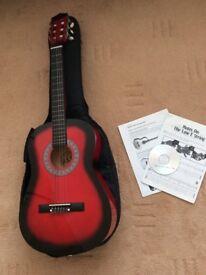 3/4 Red Guitar Bundle
