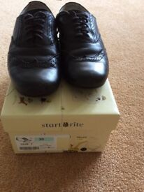 Startrite black leather girls school shoes size 2.5