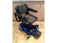 PRIDE GO ELECTRIC WHEELCHAIR WITH NEW BATTERIES IN EXCELLENT CONDITION CAN BE DISMANTLED EASILY.