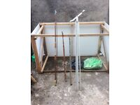 Fishing rods and stand