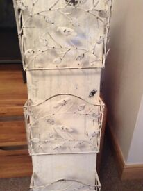 Shabby chic paper or letters holder
