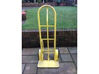 Sack Trolley heavey duty colour in yellow rubber tyres