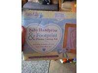 baby handprint & footprint plaster casting £5 ONO