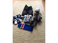 Reebok ice hockey kit junior large/ x large approx age 11-13