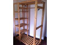 Real wood wardrobe