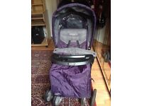 Purple graco stadium pushchair double pram