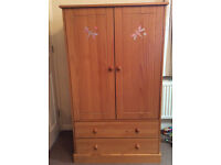 Childs Wardrobe and Chest of Drawers (Pine)