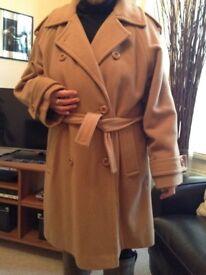 A CLASSIC LADIES CAMEL COAT