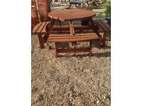 large Solid Wood Medium Oak garden table