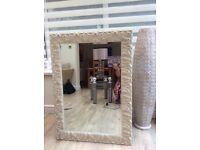 Mirror framed in cream