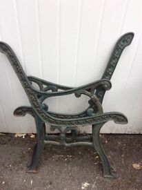 Ornate pair of cast bench ends