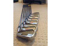 Set off Titleist 755 irons. 3 to PW. Stiff flex. Golf pride multi compound grips