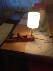 wood plane lamp, lamps, unique