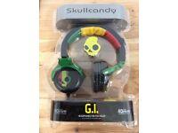 Skullcandy GI Rasta Black / Green / Yellow / Red Headphones New